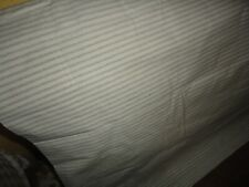 RALPH LAUREN GRAHAM STRIPE GRAY CREAM TICKING (1) STANDARD PILLOWCASE 21 X 32