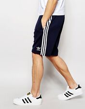 LARGE adidas Originals Men's Fitted SUPERSTAR Track Shorts AA1397  COLLEGE NAVY