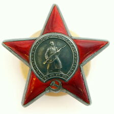 Original Soviet Russian WWII SILVER Order Red Star 2.791.643 +NUT USSR CCCP MINT