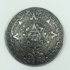 Mexican Taxco Sterling Silver 925 Mayan Calendar Pendant/Pin/Brooch