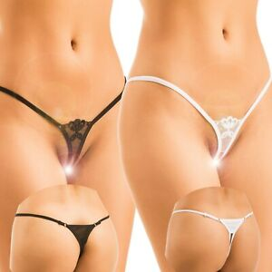 Made in Europe Women Sexy Lingerie G-String Thong Crotchless Underwear Knickers