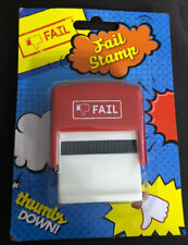 Fail stamp Self Inking Rubber Stamp Red Ink Stamper Office Text Secret Santa
