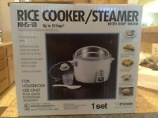 Rice Cooker/Steamer, ZOJIRUSHI Brand, NHS-18, 10 cup