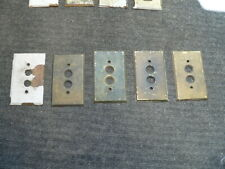 5 Antique brass wall plate covers! Push button, outlet cover, VINTAGE, SWITCH !