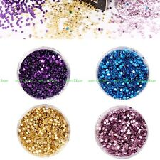 Fashion Gillter Sequins DIY Manicure For Party Circular Round Shape 1MM Nail Art