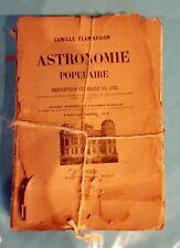Astronomie Populaire illustré 386 fig chromolithographie Camille Flammarion 1911