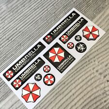 Umbrella Corporation 3d domed emblem decal stickers chrome 13pcs
