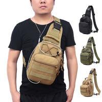 Mens Molle Tactical Sling Chest Bag Backpack Messenger Shoulder Pack Pouch Case