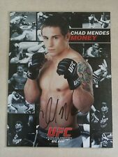 UFC CHAD MENDES SIGNED PROMO CARD