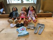 Design A Friend Chad Valley Dolls X3 & Clothes Bundle Very Good Condition