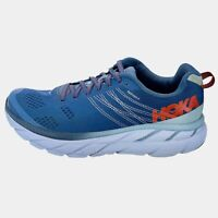 Hoka One One Mens Clifton 6 1102872 EBPA Blue White Running Shoes Lace Up Size 9