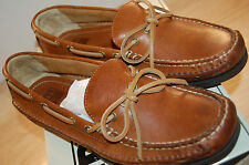 NIB Frye Mason Tie slip on shoes moccasin Boat Camel color Size 9 Med