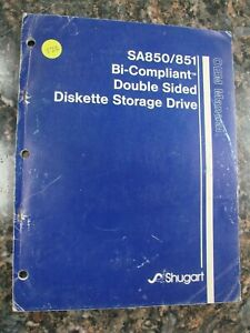 Vintage SA850/851 Bi-Compliant Double Sided Diskette Storage Drive Manual