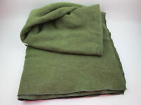 "Military Issued Wool Blanket Olive Green 7210-00-282-7950 66"" x 84"""