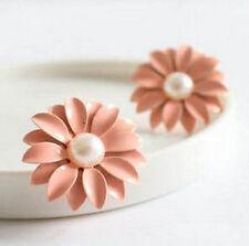 FD421 Sweet Lolita Women Girl Princess Queen Flora Flower Daisy Studs Earrings:)