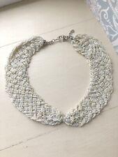 Oasis Cream Vintage Beaded Collar Statement Necklace