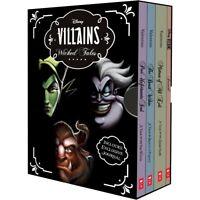 NEW Disney Villains Wicked Tales Collection 3 Books + Bonus Journal Gift Set!