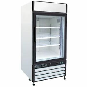 Maxx Cold MXM1-12R Reach In Cooler Single Glass Door Refrigerator Merchandiser