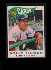 1960 TOPPS #218 SOLLY HEMUS AUTHENTIC ON CARD AUTOGRAPH SIGNATURE AX1968