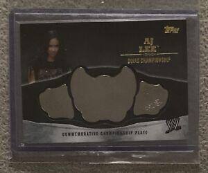 WWE DIVA AJ LEE TOPPS 2014 DIVAS CHAMPIONSHIP BELT PLATE CARD