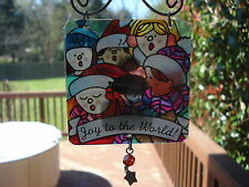 Suncatcher Chorus Joy To The World with Star Dangle 3 inches 0356 258