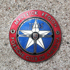 RARE Vintage Porsche Club of America P.C.A. Maverick Region TEXAS Grille Badge