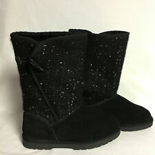 c5ee6cbc01c9 CANYON RIVER BLUES BLACK FAUX FUR LINED BOOTS SIZE 5M
