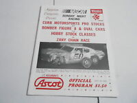 #MISC-2679 CAR RACING PROGRAM - SEPT 18 1988 AGAJANIAN ASCOT