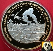1940 WWII Operation Dynamo Evacuation from Dunkirk WW2 Silver & Gold Plated