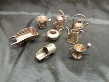 Lot Miniatures Dinette En Métal Made In England