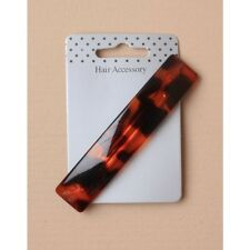 NOUVEAU 10 cm Rectangle Plastique Imprimé Animal Marron Barrette Pince à cheveux femme fashion