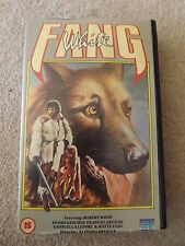 WHITE FANG 1975 movie VHS VIDEO and the hunter ROBERT WOOD itallian rare big box