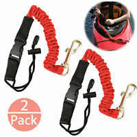 2X Safety Kayak Paddle Leash Canoa Canna da pesca Coil Lanyard Holder Accessorio