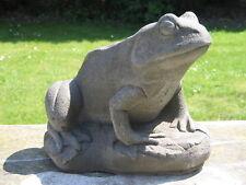 Stone Frog Garden Statue