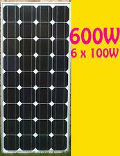 600W ( 6 x 100W )Mono Grade A Solar Panel panneau solaire 12V High Efficiency