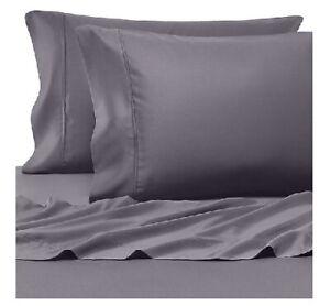 Pure Beech 100% Modal Queen 400 Thread Count Sateen Sheet Set Dark Gray