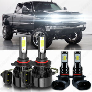 For 2004-2012 Chevy Colorado GMC Canyon -4x LED Headlights Bulbs High & Low Beam