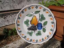 Assiette Nevers fin XVIIIe début XIXe  Poire raisin prune déco cuisine