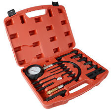 New 17 pc Diesel Engine Compression Tester Kit Tool Set Automotive Compressor