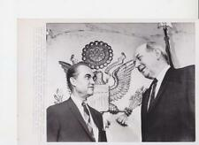 George Wallace posing with Sec. of State Dean Rusk July 26- AP News photo