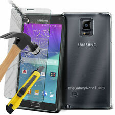 Ultra Durable Clear TPU Gel Skin Case & Glass for Samsung Galaxy Note 4