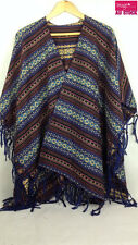 Mexican Poncho Mexico Cowboy Bandit Wild West Fancy Dress Costume Party 12462