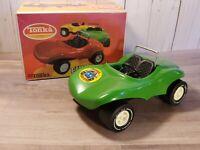 Vintage Tonka Truck Fun Buggy Mini Pressed Steel Beach Toy 1010 Green Boxed