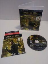 Deus Ex: Human Revolution - Director's Cut (Sony PlayStation 3, 2013) LNC. Mint