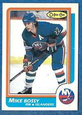 1986-87 O-Pee-Chee (Blank Back) #40  MIKE BOSSY ex-mt  New York Islanders