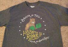Medium Baylor University Bears vs TCU I-35 Battle Royale Gray T-Shirt BU