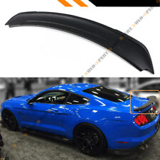 For 2015-17 Ford Mustang GT Track Pack Style ABS Matt Black Trunk Spoiler Wing