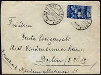 1937 - Lettera per la Germania resa franca con Augusto Lire 1,25 (n.423)