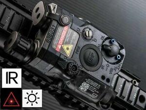 WADSN PEQ 15 LA5 UHP LED White Flashlight Red Laser IR Pointer Device - BLACK