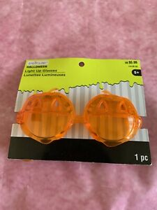 New - Creatology HALLOWEEN Light Up Glasses - pumpkin  Halloween Orange